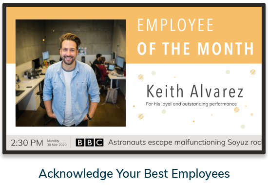 Acknowledge your best employees