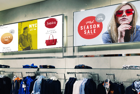 Retail Store promotions with Digital Signage displays
